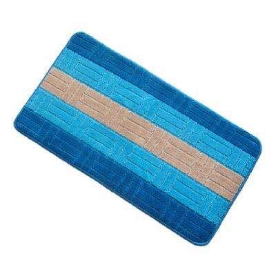 Barbosa Spa Bath Rug Size: 17''W x 24''L, Color: Turquoise