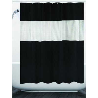 Albaugh Peva Shower Curtain Color: Black