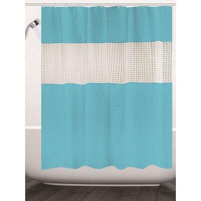 Albaugh Peva Shower Curtain Color: Aqua