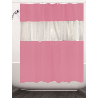 Albaugh Peva Shower Curtain Color: Pink