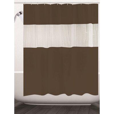 Albaugh Peva Shower Curtain Color: Brown
