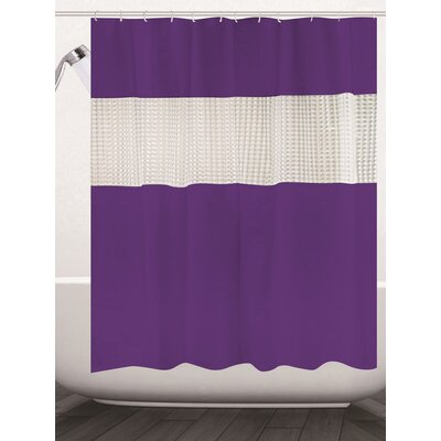 Albaugh Peva Shower Curtain Color: Purple