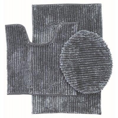 Lokshin Chenille 3 Piece Set Color: Gray