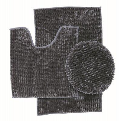 Lokshin Chenille 3 Piece Set Color: Dark Gray