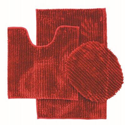 Lokshin Chenille 3 Piece Set Color: Burgundy