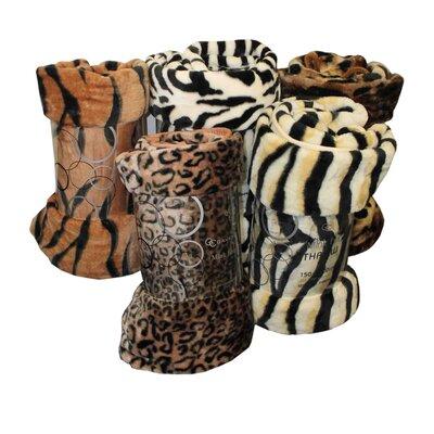Gaveno Cavailia Skin Print Mink Fur Throw