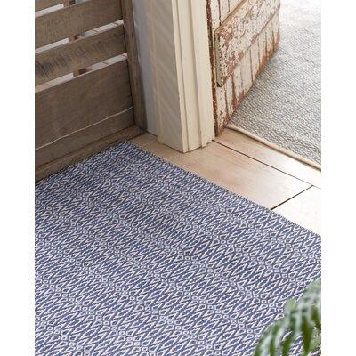 Dash & Albert Europe Fair Isle Woven French Blue/Ivory Rug