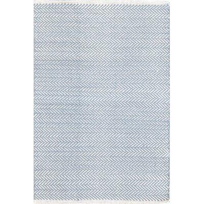 Dash & Albert Europe Herringbone Woven Swedish Woven Blue Rug
