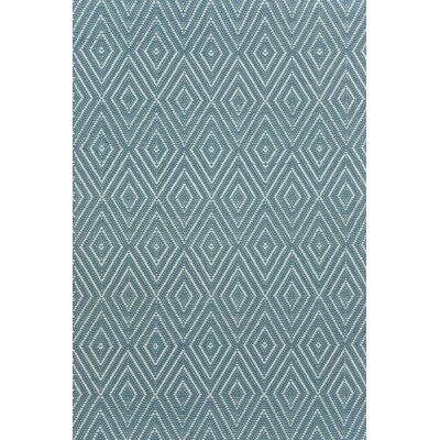 Dash & Albert Europe Diamond Slate Blue Indoor/Outdoor Area Rug