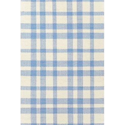 Dash & Albert Europe Tattersall Hand-Loomed Blue Rug