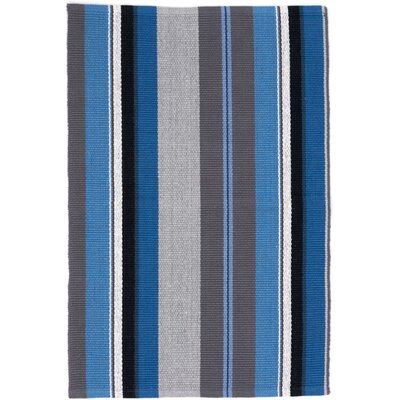 Dash & Albert Europe Midnight Blue/Grey Area Rug