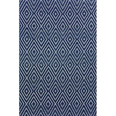 Dash & Albert Europe Diamond Hand-Woven Navy blue Indoor/Outdoor Area Rug