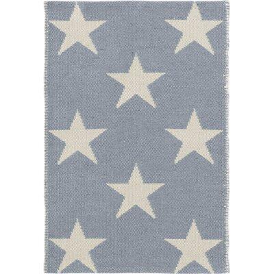 Dash & Albert Europe Star Blue/Ivory Indoor/Outdoor Area Rug