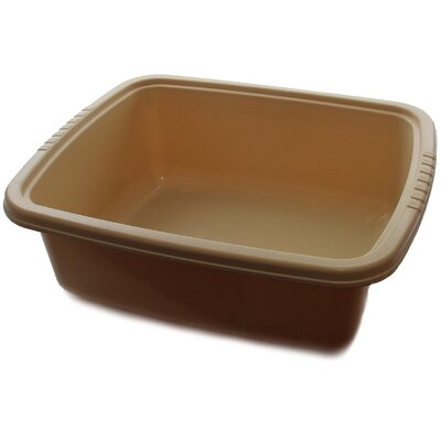 "Plastic Dish Pan Basin Color: Brown, Size: 5.75"" H x 11"" W x 13"" D"