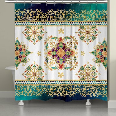 Camille Medallion Jewels Shower Curtain
