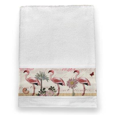 Glennwood Botanical Flamingo 100% Cotton Bath Towel