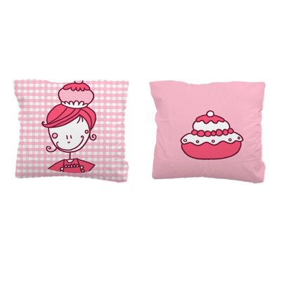 Sélène et Gaïa Patachou Cupcake Square Pillowcase
