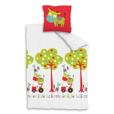 Sélène et Gaïa Hola Vache 100% Cotton Single European Set