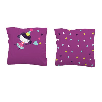 Sélène et Gaïa Prunette Fée FairySquare Pillowcase