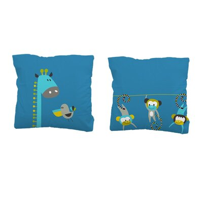 Sélène et Gaïa Cocoloco Safari Square Pillowcase
