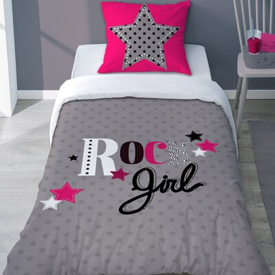 Sélène et Gaïa Girly Rock 2 Piece Duvet Cover Set