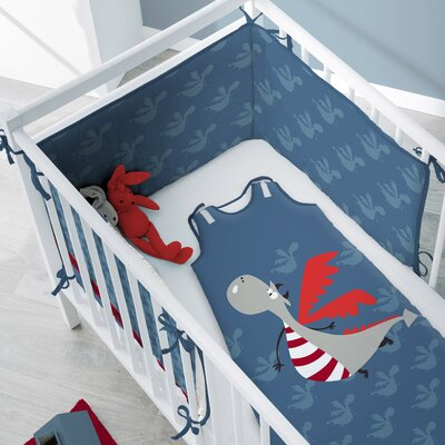 Sélène et Gaïa Dragono AO Crib Bumper