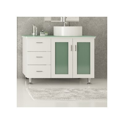 Lune 39 Single Vessel Modern Bathroom Vanity Set Wayfair