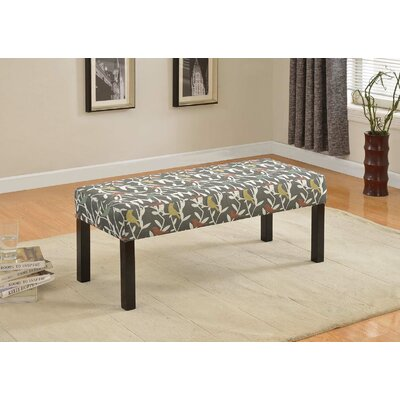 Fabric Wood Bench