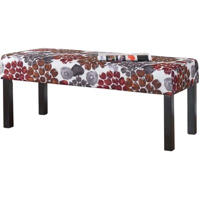 Upholstered Decorative Bench Upholstery: Red