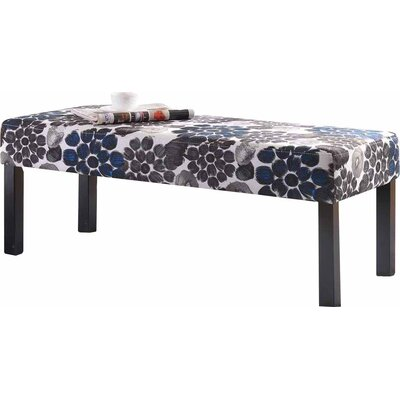 Upholstered Decorative Bench Upholstery: Blue