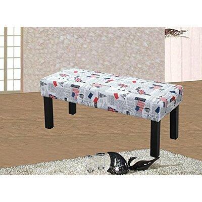 Upholstered Decorative Bench Upholstery: Flag