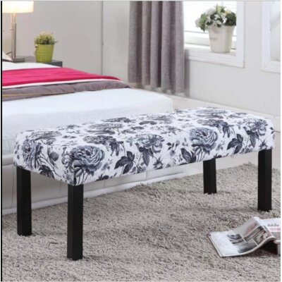 Upholstered Decorative Bench Upholstery: Gray