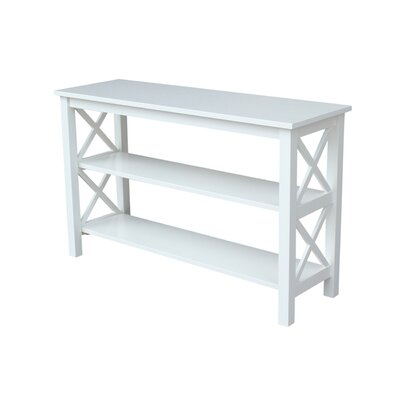 Towner Console Table Color: White