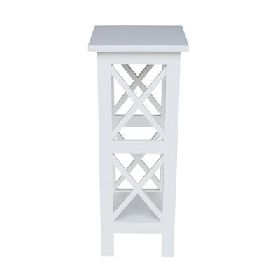 """Eamon Multi-Tiered Plant Stand Color: Snow White, Size: 30"""" H x 12"""" W x 12"""" D"""
