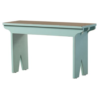 Nellie Rural French Style Wood Bench Color: Aqua