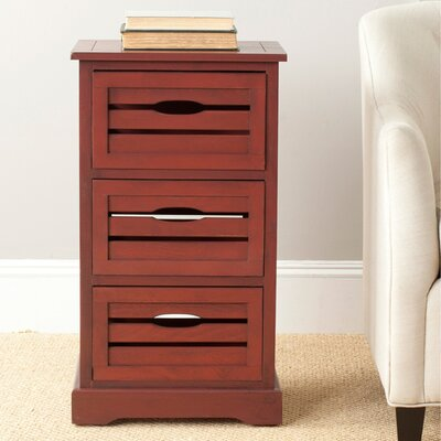 Loftis 3 Drawer Chest Color: Cherry