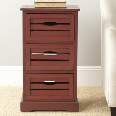 Loftis 3 Drawer Chest Color: Red
