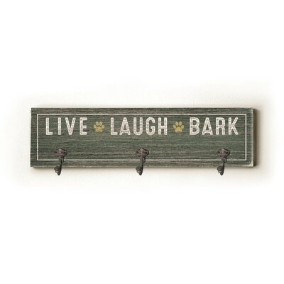 Live Laugh Bark Wall Hook