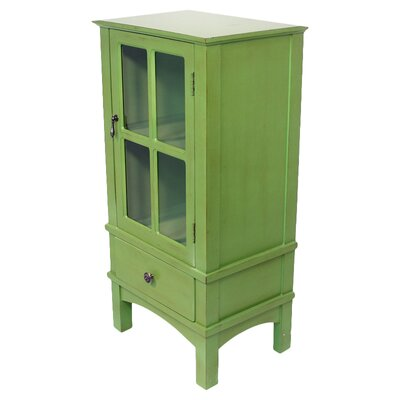 Hampton 1 Drawer Accent Cabinet Color: Green