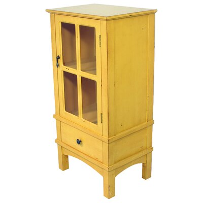 Hampton 1 Drawer Accent Cabinet Color: Yellow