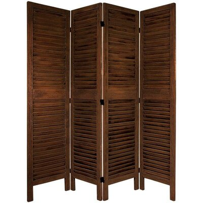 Jeanpierre Room Divider Color: Burnt Brown, Number of Panels: 4