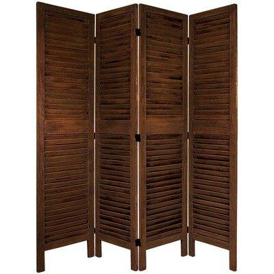 Jeanpierre Room Divider Color: Burnt Brown, Number of Panels: 3