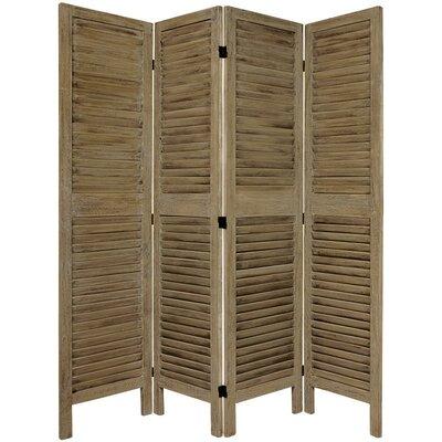 Jeanpierre Room Divider Color: Burnt Gray, Number of Panels: 4