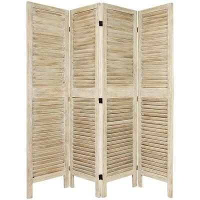 Jeanpierre Room Divider Color: Burnt White, Number of Panels: 4