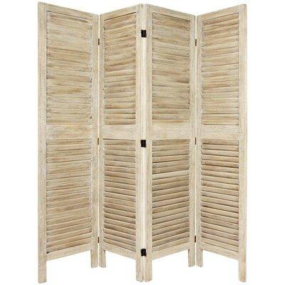Jeanpierre Room Divider Color: Burnt White, Number of Panels: 4