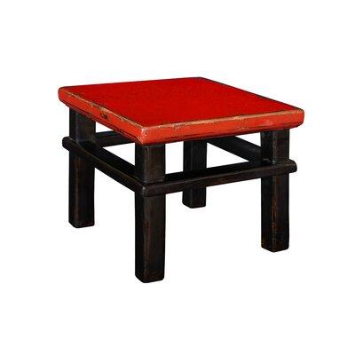 Ira Square Accent Stool Color: Cherry/Red