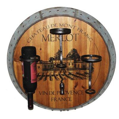 Benito Merlot 3 Bottle Wall Mounted Wine Rack