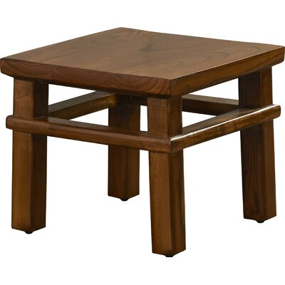 Ira Square Accent Stool Color: Natural