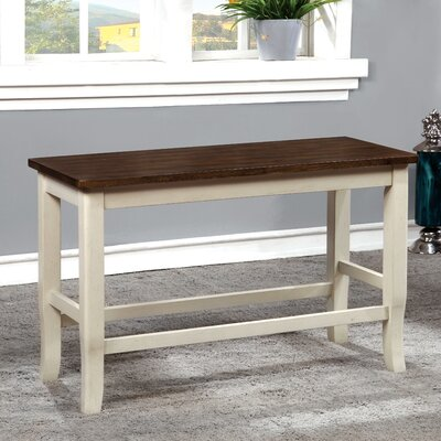 Marilou Wood Bench Color: Vintage White
