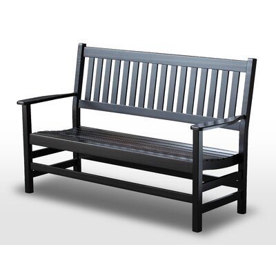 Franklin Springs Wood Bench Color: Black, Size: 5'